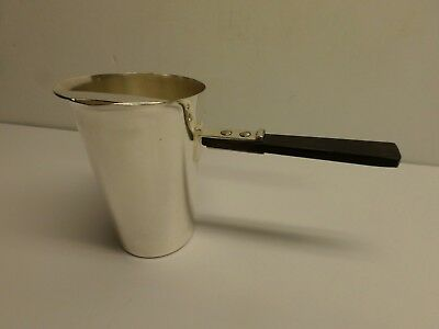 "Vintage ""ACADEMY"" SILVER ON COPPER BEVERAGE SERVER #17 - Wood Handle"