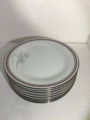 "(Lot of 9) NORITAKE MALVERNE CHINA 6 1/2"" BREAD & BUTTER PLATES  MINT!"