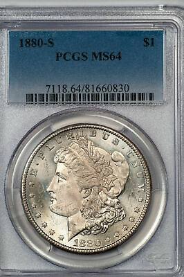 1880-S Morgan Silver Dollar * PCGS MS64 * Nice * Strong Strike No Reserve
