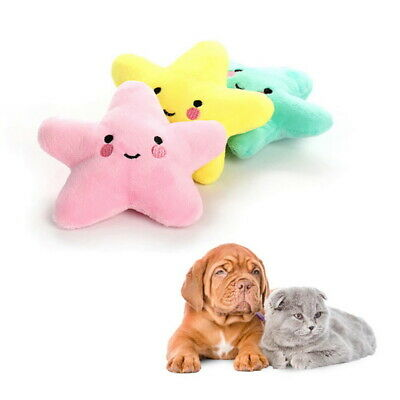 Dog Pet Safe Dog Cat Funny Fleece Durability Plush Toys Squeak Chew Sound DBD