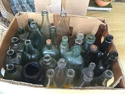Old Bottles/ Box Of Collectables