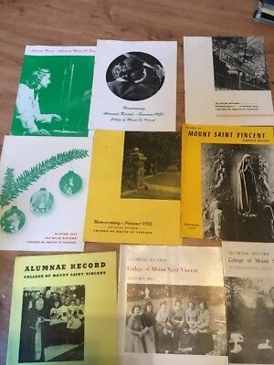 Alumnae Record 1948-1954 College Of Mount St.Vincent Riverdale NYC