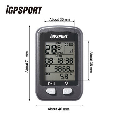 IGPSPORT IGS20E Wireless Speedometer Bicycle Computer Cycling Stopwatch