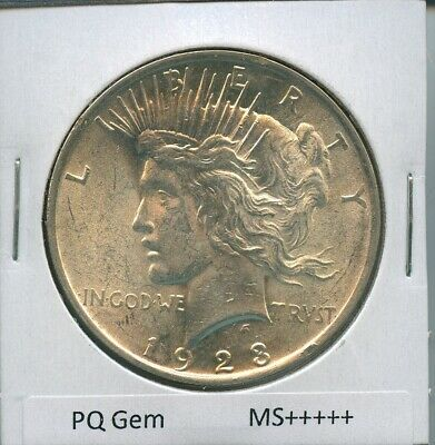 1923-P Peace Dollar Uncirculated US Mint Coin PQ Gem Silver Coin Unc MS+++++