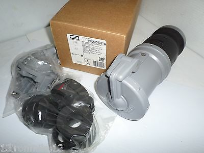 ***NEW IN BOX** HUBBELL HBL5100CS1W 100-Amp Pin&Sleeve CONNECTOR 100A 600V 4P 5W