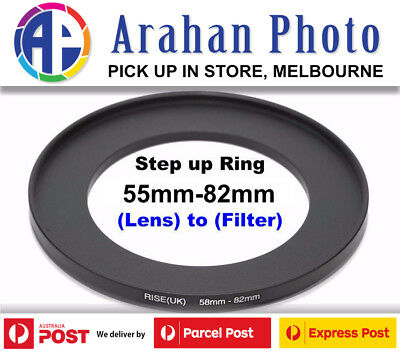 Step Up Ring 55-82mm Filter Lens Adapter 55mm Filter to 82mm Lens