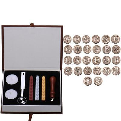 European Fancy Letter Fire Paint Stamp Wax Tool Alphabet Letters A - Z Kit Set