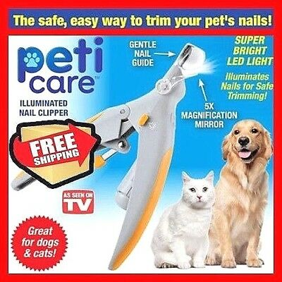 PetiCare The Illuminated Pet Nail Clipper - As SEEN On TV Great for CATS & DOGS.