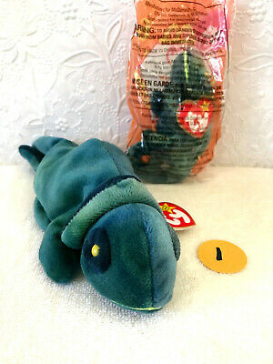 cd8d71430c5 1997 TY Beanie Babies RAINBOW IN WRONG FABRIC Blue Green Chameleon w Tags  8.5