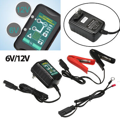 6V 12V 1.5A Battery Charger Tender Maintainer Auto Trickle Charger WET GEL AGM