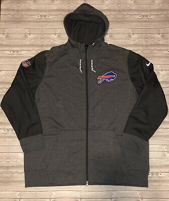 26ad97134d1d Buffalo Bills NFL Hoodie Nike Therma Dri-Fit Size XXL Heather Gray Full Zip