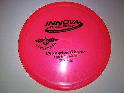 New Team Stamp Beautiful Pearly Innova Champion Rhyno Sweet Pink 175g Disc Golf