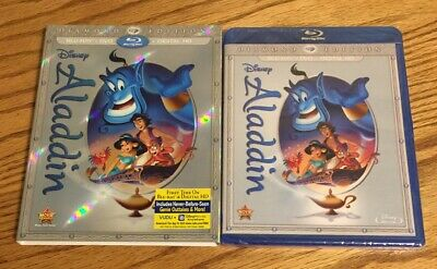 Aladdin Blu-ray DVD Digital HD Slipcover Diamond Edition NEW AUTHENTIC SEALED