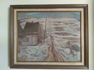 Listed Canadian, A.Y. Jackson RCA, Vintage Lithograph, Early Spring Quebec.