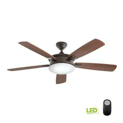 Home Decorators Daylesford 52 in. LED Indoor Oiled Rubbed Bronze Ceiling Fan