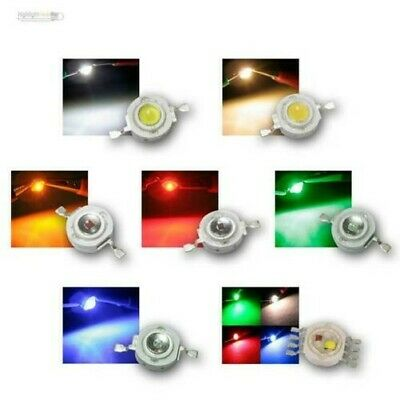 Led de Alto Rendimiento 1 Vatio, Diferentes Colores, Power Emisor Chip, 1w