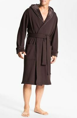 6bf77e5da51 NWT UGG MEN'S BRUNSWICK Hooded Soft Fleece Plush Bath Robe STOUT BROWN L/XL  $145
