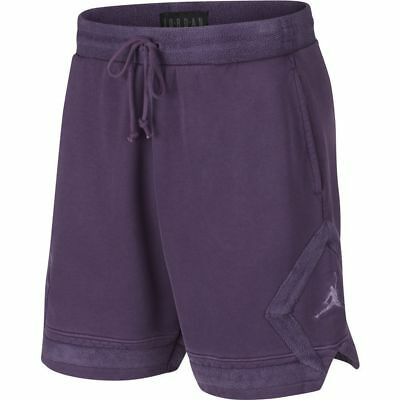 7e45b65dcb6 Mens Nike Air Jordan Washed Diamond Fleece Shorts 939960-525 Grand Purple  $75