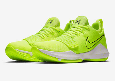 49b6a3d40b9 NIKE PG 1 Tennis Ball Volt Black White Paul George 878627-700 Men s ...