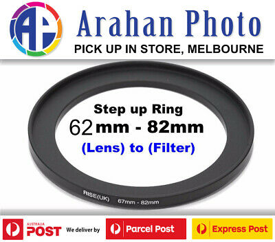 Step Up Ring 62-82 Filter Lens Adapter 62mm Filter to 82mm Lens