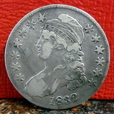 Very Nice Early 1832 Large Letter Silver Capped Bust Half Dollar