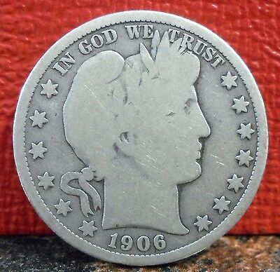 Nice Better Mint 1906 D First Year Denver Mint Barber Silver Half Dollar