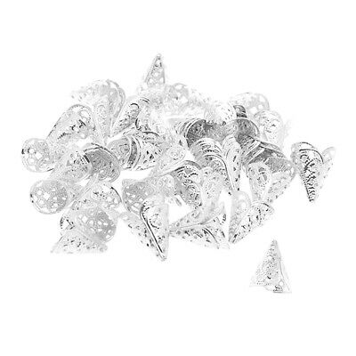 50pcs Filligree Beads Cap for Bag, Dance Costume, Curtain, Jewelry Marking