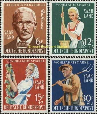 EBS Germany 1958 Saar Saarland Welfare - Farming Co-Ops Michel 441-444 MNH**