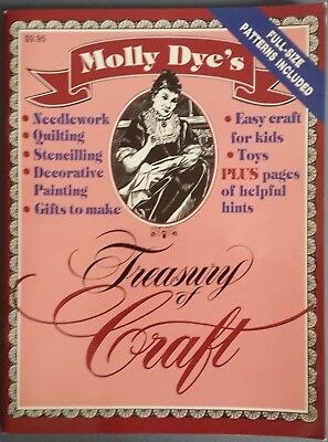 Molly Dye's Magazine Treasury of Craft Needlework Quilting Stencilling Painting