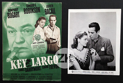 KEY LARGO Lauren BACALL Robinson J. HUSTON H. BOGART Film Noir DP + 1 Photo 1948
