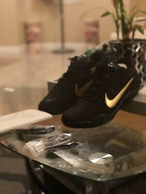 12e362759b38 NIKE KOBE XI 11 Elite Low FTB Fade To Black Mamba Black Gold SZ 11 ...