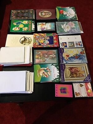Bulk Lot Christmas And Birthday Cards With Envelopes