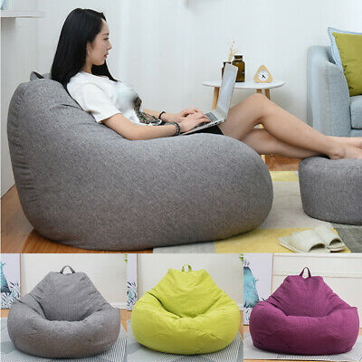 Soft Bean Adults Large  Bag Chairs Sofa Cover Without Filler Indoor Lazy Lounger