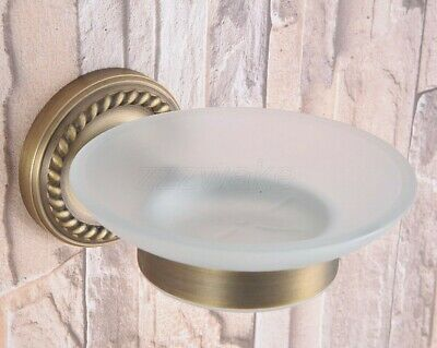 Vintage/Retro Antique Brass Bathroom Wall Mounted Soap Dish Holder Zba261