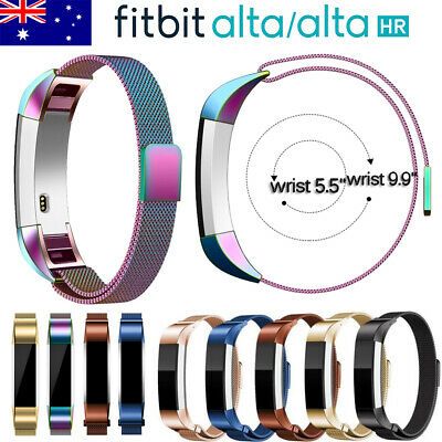 AU Magnetic Milanese Stainless Steel Watch Band Strap for Fitbit Alta / Alta HR