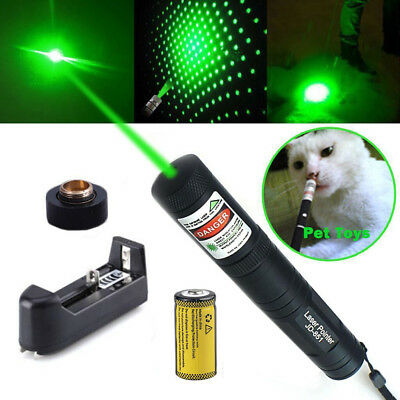 10 Miles 532nm 1MW Green Beam Light Presentation Laser Pointer Pen & Battery USA