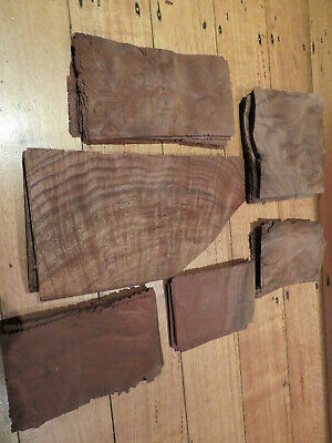 Mixed walnut timber veneer - new old stock, 6 batches varies from 18-33 sheets
