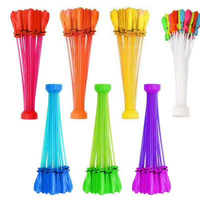 333 Water Balloons Bombs Multicolour Kids Summer Party Fun Toys Self Tying US