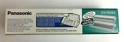 Genuine Panasonic Ink Film KX-FA55A 2 Rolls Value Pack For Fax Machine