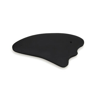 Horn-shape Guasha Scraping MassageTool Board Bian Stone for Graston SPA Black