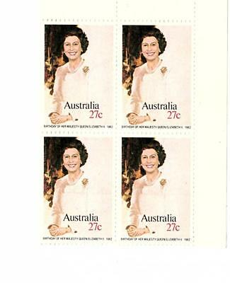 Australian stamps x 4 Her Majesty The Queen Elizabeth 1982 Excellent condition