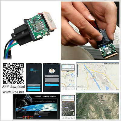 1*Universal Car Hidden Anti-theft Tracking GPS Tracker Device Remote Control APP