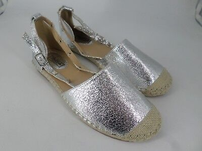 Metallic Studded Flat Ankle Strap Espadrilles UK 6 EU 39 LN23 48 SALEs