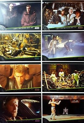 """Star wars Galactic  Files 2012 """" I HAVE A BAD FEELING ABOUT THIS """" Card Set of 8"""