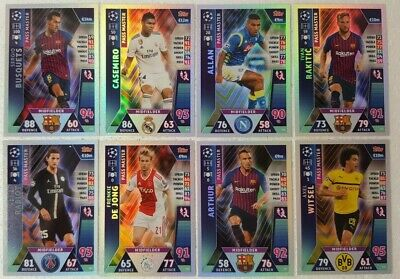 MATCH ATTAX Madrid UEFA Champions League PASS MASTER Card Set of 9 topps 2019