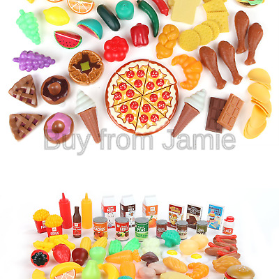 5865af277109 Play Food Set for Kids   Toy Food for Pretend Play - Huge 125 Piece Play