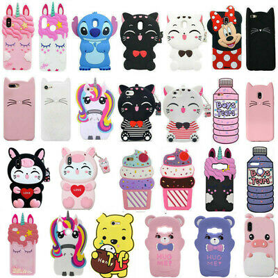 For Huawei P8/9/10 Lite P20 / P20 Pro Cute 3D Cartoon Silicone Phone Case Cover