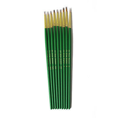 Art, Craft, Model Making Fine Detail Paint Brush Set of 9 (10/0, 5/0 and 0)