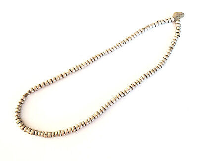 Antique Ethiopian strand of silver Heishi Anklet 1930s