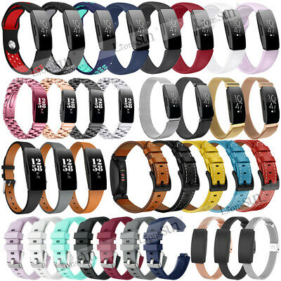 For Fitbit Inspire HR Silicone Stainless Steel Milanese Strap Band Replacement